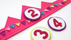 Birthday Pinata, Birthday Crafts, Crown For Kids, Felt Crown, Baby Banners, Ideas Para Fiestas, Felt Patterns, School Parties, Diy Toys