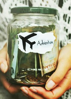 Need to start saving. A saving jar is the perfect idea 👌 Adventure Awaits, Adventure Travel, Into The Wild, Wanderlust, I Want To Travel, Nice Travel, Travel Bugs, Travel Stuff, Travel Things