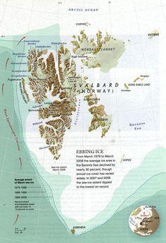 Svalbards Ebbing Ice Map - svalbard norway • mappery
