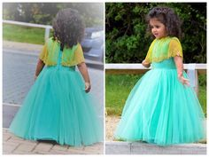 Issa MiNi s- IM03 : Cutest of all. Beautiful sea green color cute gown with net cape.They can customize the colour   size as per your requirement.To order please call/ WhatsApp on 9949944178 or mail  at issadesignerstudio@gmail.com  15 June 2017