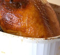 A simple honey glaze for your Thanksgiving turkey. Great on chicken, too!