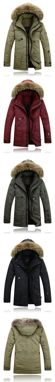 Wholesale cheap men outwear coats online, Liner Detachable   - Find best  Men Winter Jacket Duck Down Parkas Fur Collar Thick Winter Coat Hooded Outdoor Outwear Windproof Waterproof Liner Detachable at discount prices from Chinese Down & Parkas supplier - bestselling8899 on DHgate.com.