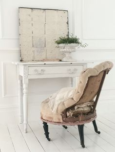 Deconstructed French chair