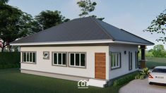10 Contemporary House Designs With Floor Plan Perfect for Modern Family Bungalow House Plans, Bungalow House Design, Modern Bungalow, Modern House Plans, Small House Plans, Bungalow Homes, 3 Storey House Design, Small House Design, Modern House Design