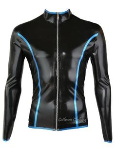 Latex Long Sleeve Edged Top by Cathouse Clothing.
