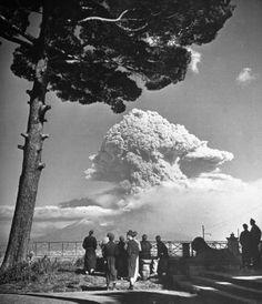 Erupção do Vulcão Vesúvio 1944