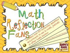 Math Reflections by the amazing Jen Runde:  www.rundesroom.com