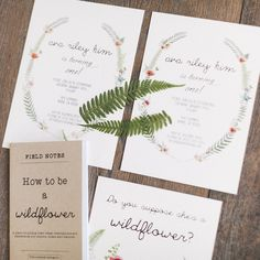 Wildflower Party Invitation from a Wildflower First Birthday Party on Kara's Party Ideas   KarasPartyIdeas.com (32)