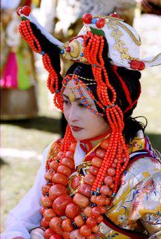 Tibetian.  Khampa Girl from Aba Town.