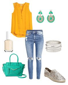 """""""Untitled #226"""" by kmysoccer on Polyvore featuring H&M, Kate Spade, Charlotte Russe, Essie, Apt. 9 and Steven by Steve Madden"""