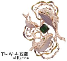 "Dai Sun Jewellery, brooch ""The Whale of rhythm"""