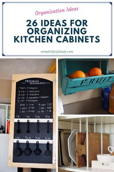 kitchen cabinet organization tips and ideas