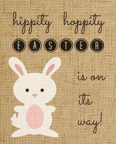 Burlap Bunny Easter Art - free printable