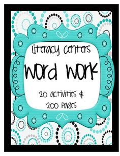In this SUPER PACK is 20 activities and over 200 pages.  These activities are great for  Literacy Centers! $10