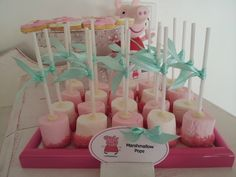 best Ideas for peppa pig birthday party food kids 3 Year Old Birthday Party, First Birthday Parties, First Birthdays, 5th Birthday, Pig Birthday Cakes, Peppa Pig Birthday Ideas, Cumple Peppa Pig, White Marshmallows, Marshmallow Pops