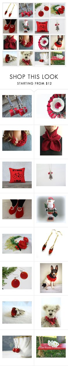 """""""Red Hot Gifts!"""" by therusticpelican ❤ liked on Polyvore featuring Hostess, modern, contemporary, rustic and vintage"""