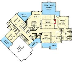 Smaller floor plan of favorite house-Erika Angled Craftsman House Plan - 36028DK   1st Floor Master Suite, Bonus Room, Butler Walk-in Pantry, CAD Available, Corner Lot, Craftsman, Jack & Jill Bath, Mountain, Northwest, PDF, Split Bedrooms   Architectural Designs