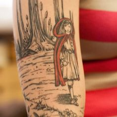 Love this little red riding hood tattoo