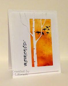 My Mindful Creations: Birch Tree / Memory Box Die