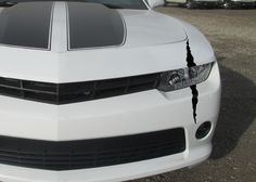 DecalDino Headlight Thick Scar on mustang beast sticker decal mscle headlight led scratch claw stripe slash accessories ford cars
