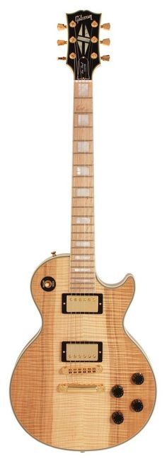 gibson custom shop - les paul custom figured natural with maple fingerboard