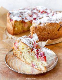Ciasto z rabarbarem Other Recipes, Sweet Recipes, Cake Recipes, Dessert Recipes, Rhubarb Cake, Wonderful Recipe, Dessert Drinks, Cookie Desserts, Coffee Cake
