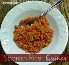 """""""Spanish Rice"""" Quinoa - (THM E) - can be made in a crockpot or in a regular pot"""