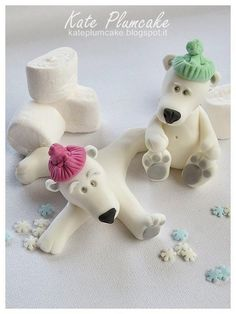 Polar bears - Cake by Kate Plumcake