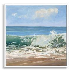 'Wave Burst' Framed Oil Painting Print