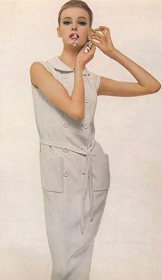 Nena von Schlebrugge wearing Norman Norell by Richard Avedon - Harper's Bazaar, 1961