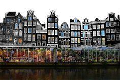 Плавучий цветочный рынок, Амстердам, Нидерланды!