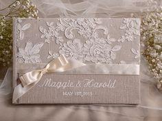 ♥ Pinterest : Mutine Lolita ♥ Livre d'or livre d'or dentelle Shabby Chic #mariage