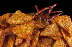 Chile Rubbed flaky tortilla chips - have you ever seen anything more beautiful?