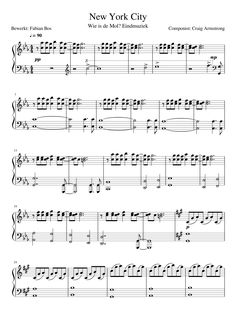 Print and download New York City - Componist: Craig Armstrong for Piano and Keyboard. Made by fabianbos.