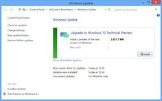 Windows 10 will be able to install via Windows Update on Windows 7 and 8 computers.