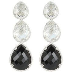 DeLatori Black Onyx and Crystal Earrings