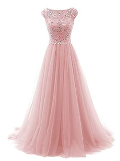 Tideclothes Long Beads Prom Dress Tulle Cap Sleeves Evening Dress Blush US2 Tideclothes http://www.amazon.com/dp/B017VYR9OC/ref=cm_sw_r_pi_dp_9FE6wb1GB5449