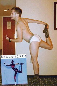 Jake Gyllenhaal imitating Grace Jones... Is this legit? lmfao