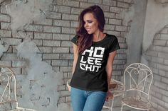 Ho Lee Chit Cuisine - Funny Chinese Women's short sleeve t-shirt - Holy Shit Funny Chinese Saying Tee - Funny Chinese Quote Shirt Funny Chinese, Pun Shirts, Heat Press, Shirts With Sayings, Heat Transfer Vinyl, Getting Married, Nerdy, T Shirts For Women, Trending Outfits