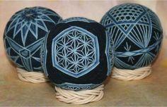 松江藍てまり 麻の葉亀甲