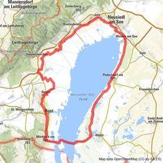 Neusiedler See Radweg mit Seeüberquerung - BERGFEX - Radfahren - Tour Burgenland Dna, Maps, Traveling, Around The Worlds, Camping, Tours, Travel, Bike Rides, Road Racer Bike