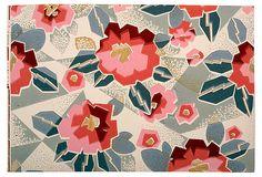 Coral Art Deco Wallpaper on OneKingsLane.com
