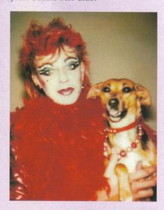 Julian Clary aka The Joan Collins Fan Club with his love in life, Fanny The Wonder Dog!