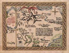 Thror's Map of Erebor given to Thorin by Gandalf.