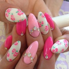 Not keen on the nail shape, but love the colours and style!