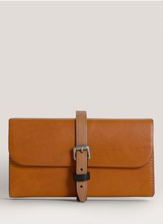 Acne - Leather strapped clutch | Neutral and Brown Clutches | Womenswear | Lane Crawford - Shop Designer Brands Online