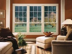 Unique Three Windows For Cozy Living Room Idea