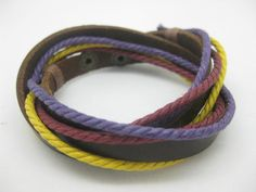 Shoply.com -Cotton and leather Composition this beautiful bracelet. Only $4.50