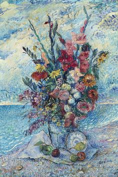 david burliuk paintings | Still Life with Gladiolae - David Burliuk - WikiPaintings.org