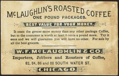 McLaughlin's Roasted Coffee [back] by Boston Public Library, via Flickr
